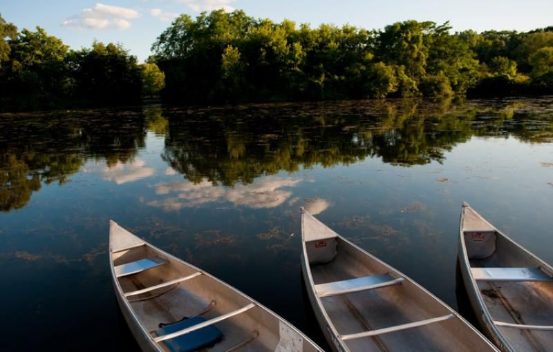 Canoes on the Huron River