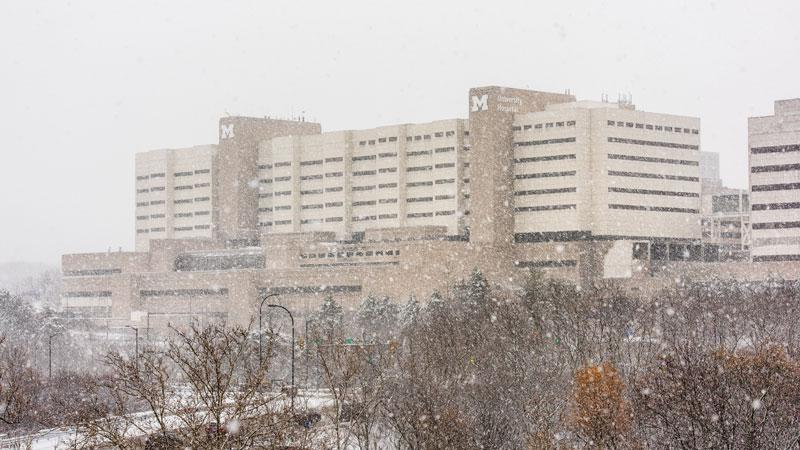 University Hospital in the snow
