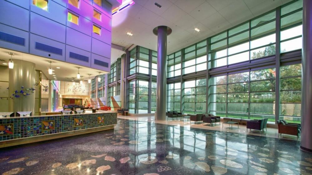 Entrance lobby for C.S. Mott Children's Hospital and the Von Voigtlander Women's Hospital