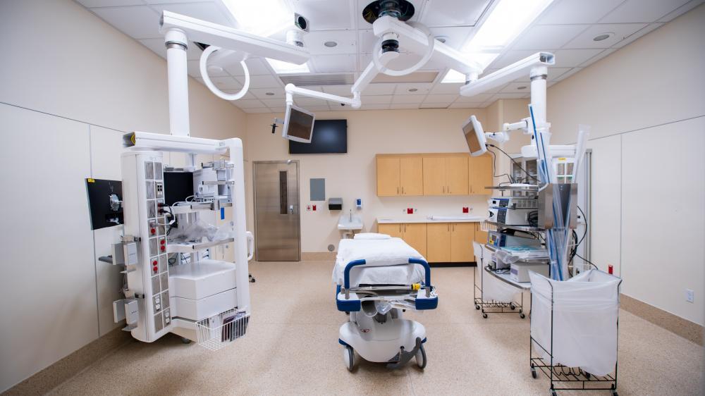 unoccupied procedure room