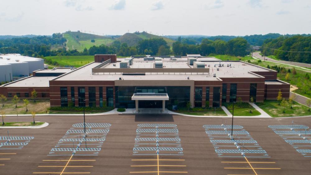 Exterior aerial photo of entire medical complex