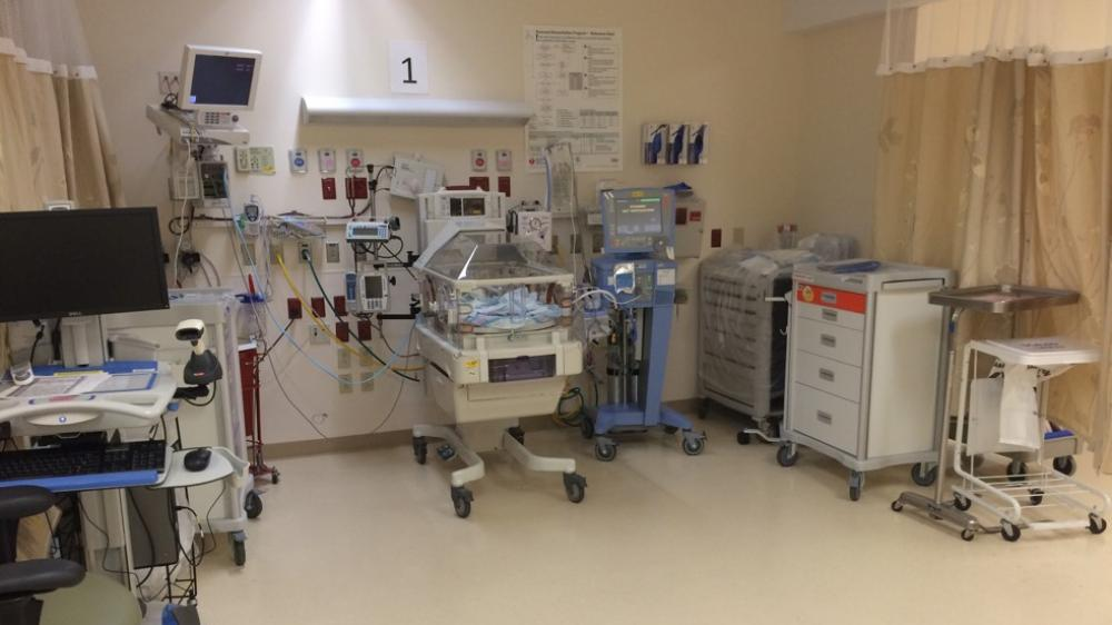 Neonatal incubator, computer station, and other neonatal equipment