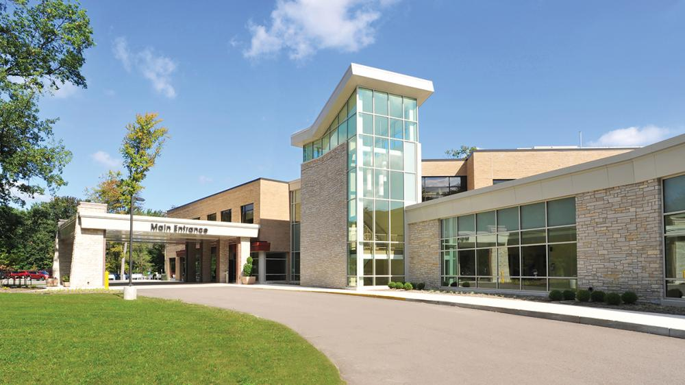 Exterior shot of main drive up entrance to Chelsea Health Center