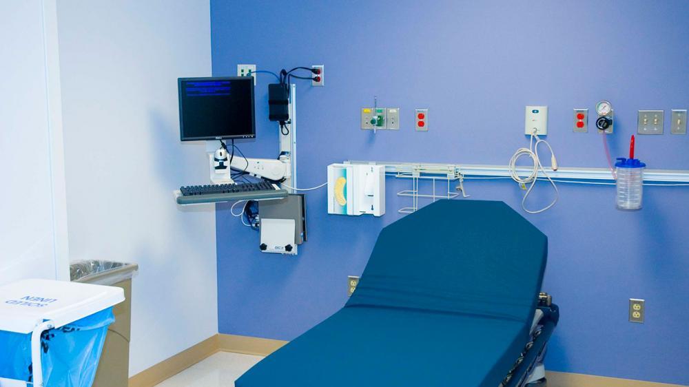 Empty patient exam room