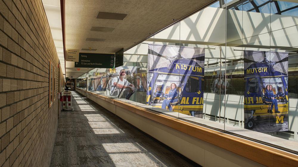 hallway of taubman health center