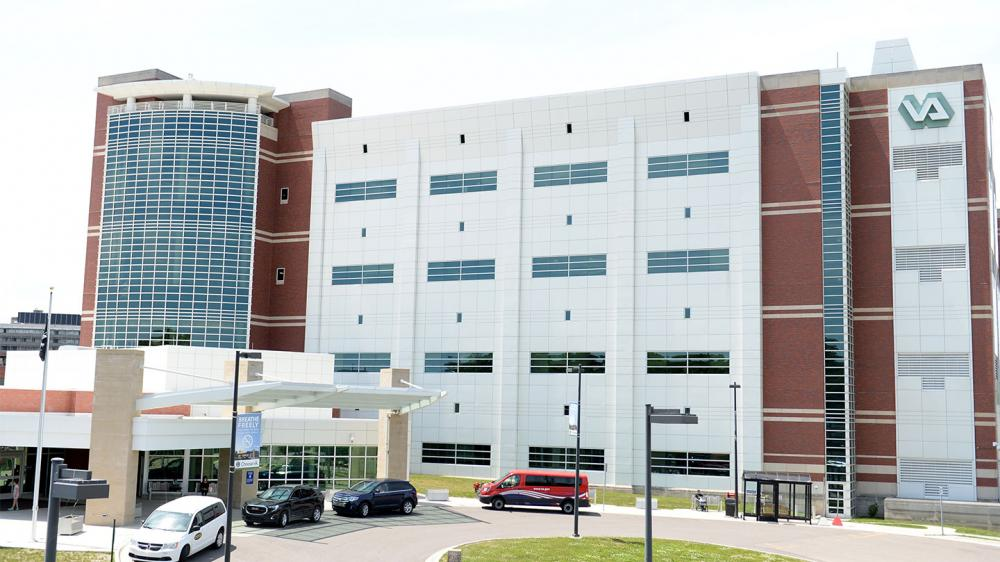Exterior view of Veterans Affairs building complex
